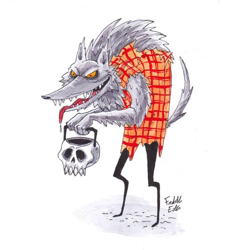 54 more werewolf illustrations & paintings from #Inktober featured image