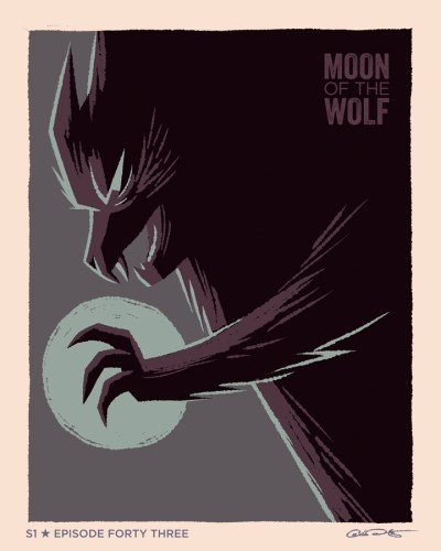 "Moody, gorgeous Batman: The Animated Series ""Moon of the Wolf"" poster by George Caltsoudas featured image"