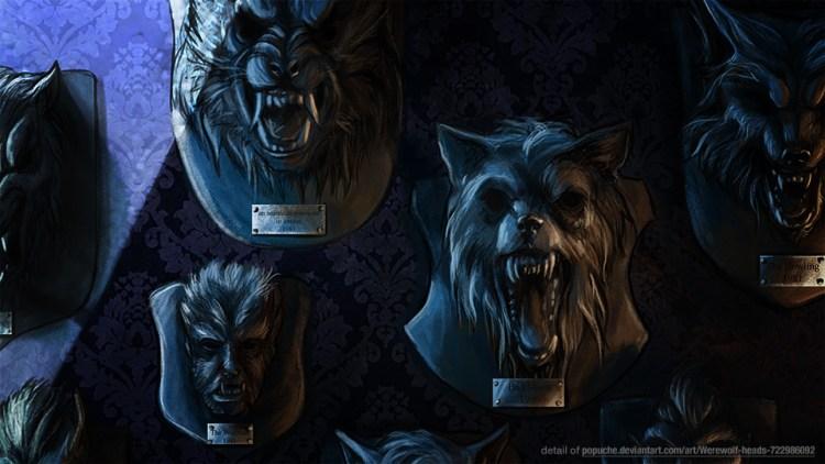 """Weekly Werewolf Art: """"Werewolf Heads"""" by Popuche featured image"""