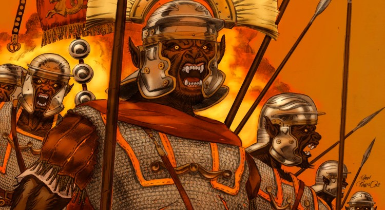"""Roman centurions get bit by a werewolf and create an """"Empire of the Wolf"""" featured image"""
