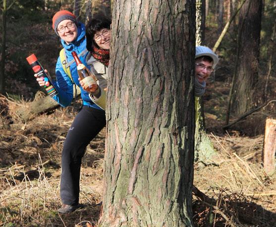 Für die Highland Games auf Waldexkursion