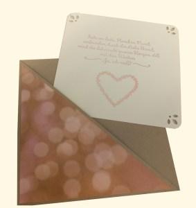 Explosionbox zur Hochzeit - Dekoration und Sprüche