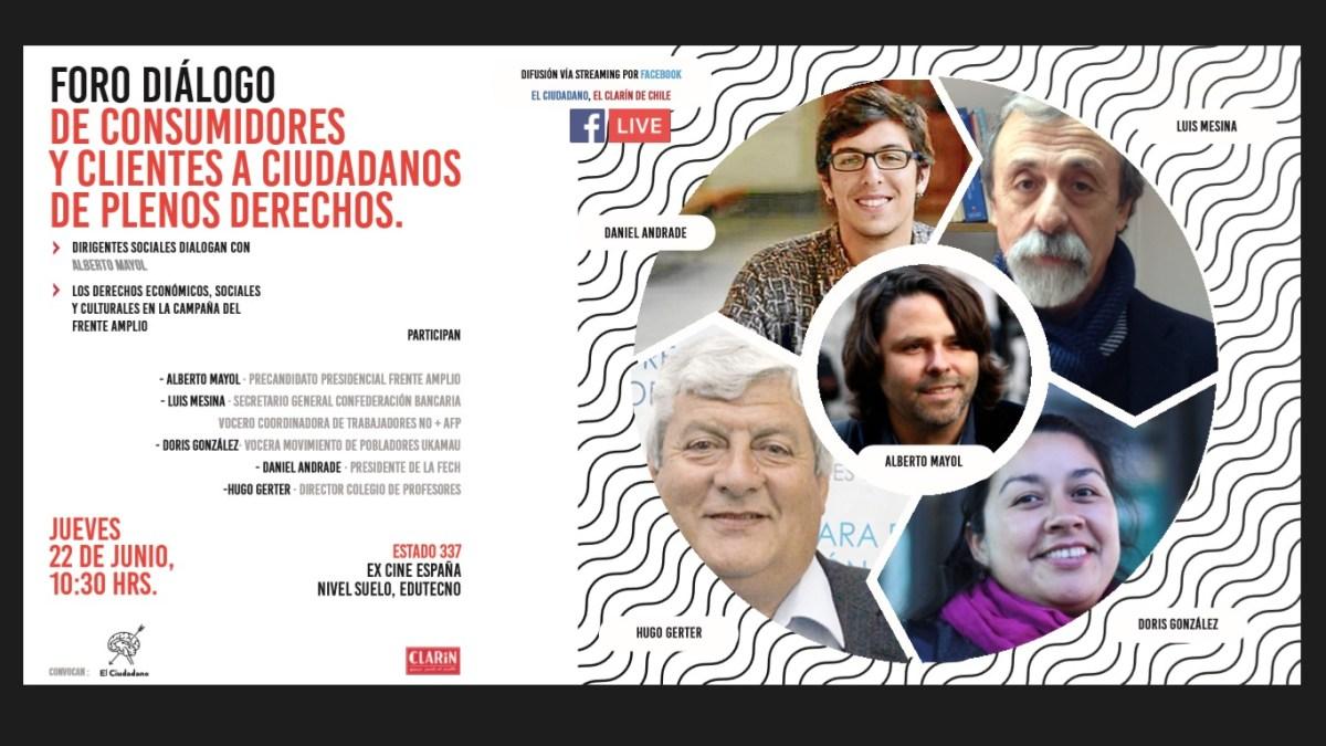 """Chile - Doris Gonzalez, Luis Mesina, Alberto Mayol en Foro """"De consumidores a ciudadanos plenos"""""""