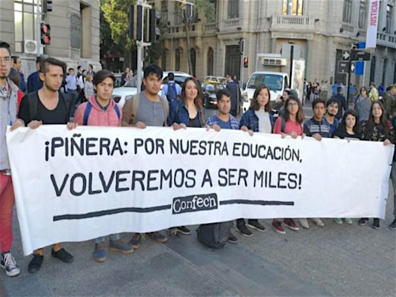 Chile - JUEVES 19 DE ABRIL PRIMERA MARCHA NACIONAL POR LA EDUCACIÓN 2018 -