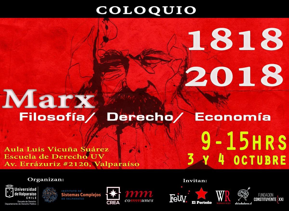 Chile - Valparaíso: Coloquio: Marx. Filosofía, Derecho y Economía