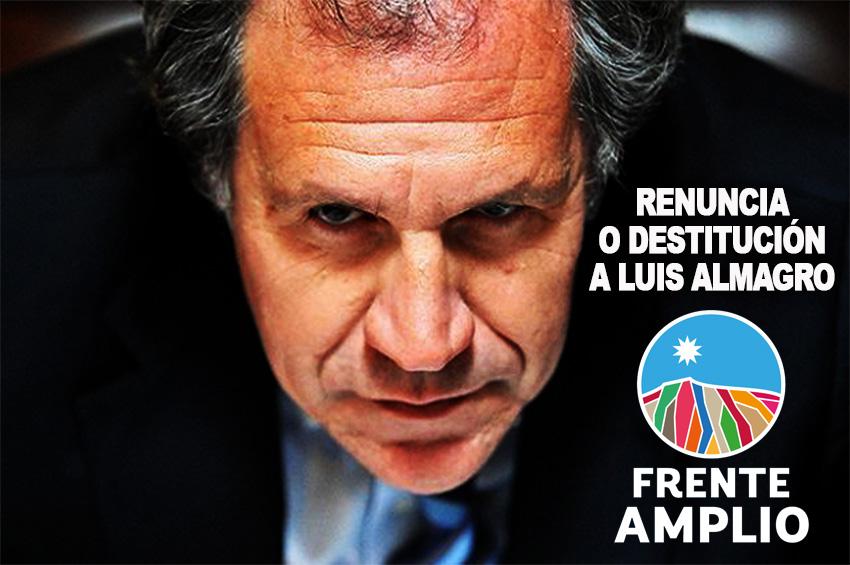 Grupo de política internacional del FA exige destitución de Luis Almagro Secretario General de la OEA