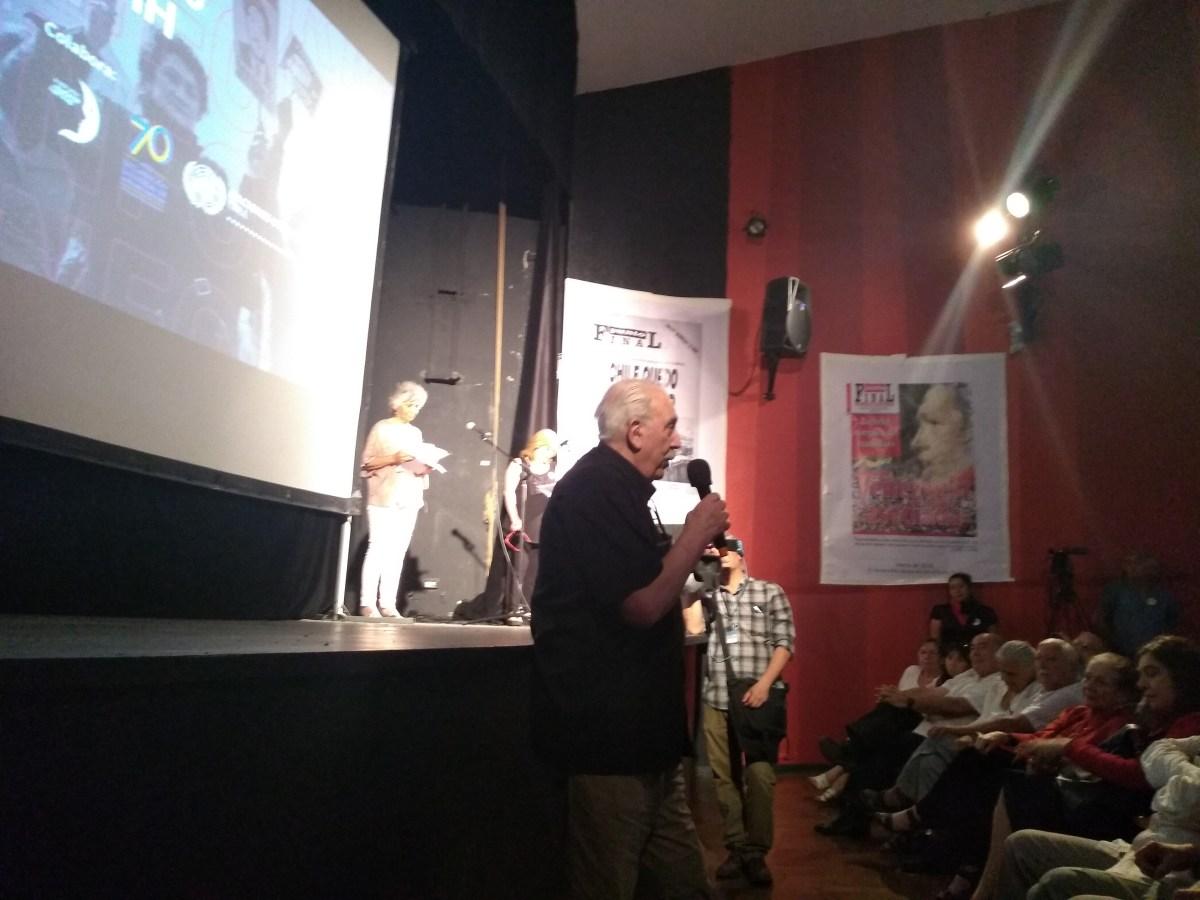 Masivo y emotivo acto en homenaje a la Revista Punto Final y a su director Manuel Cabieses
