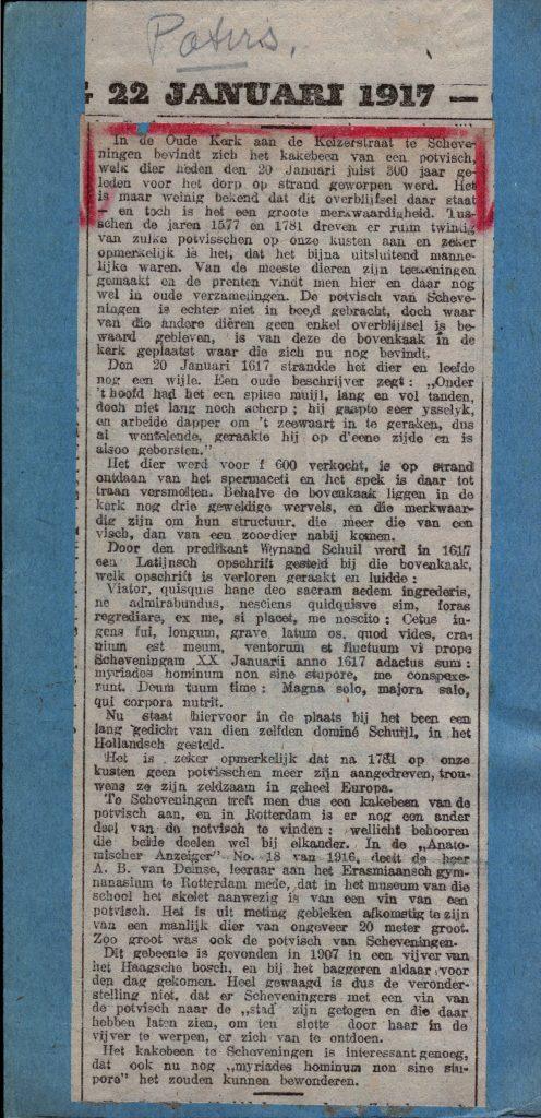 22 januari 1917