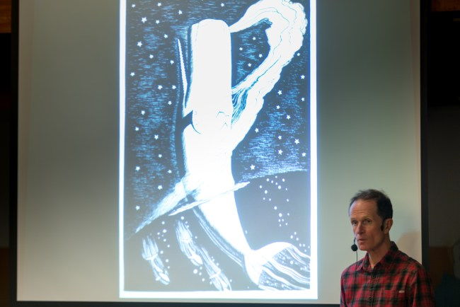Philip Hoare story-telling at Ecomare