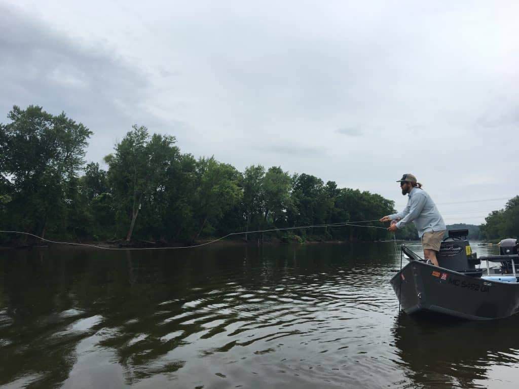 Fly fishing on the Grand River