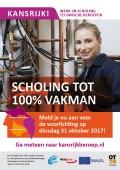 Klik op de afbeelding voor de flyer Scholing tot 100% vakman