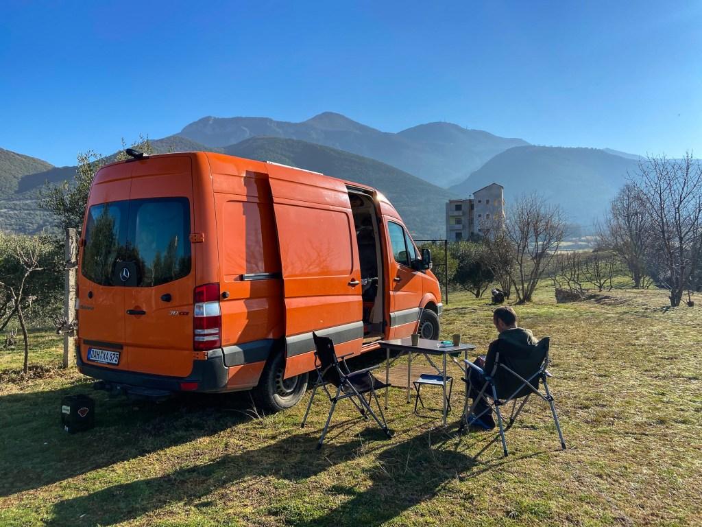 Campingplatz Dajti in Tirana - Albanien