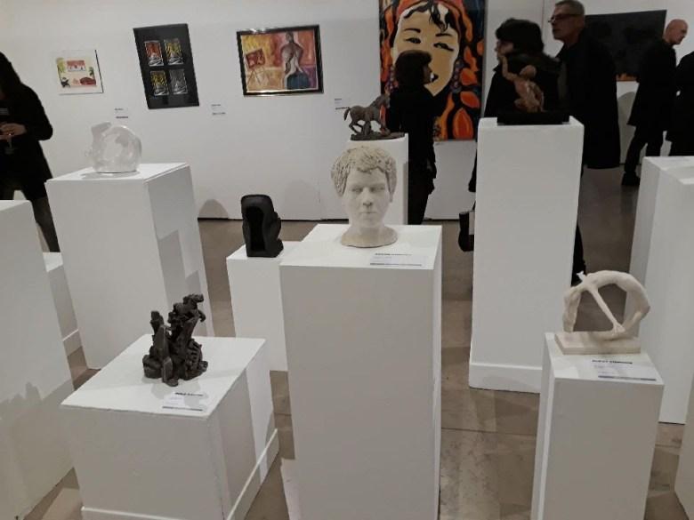 exposition des sculptures des élèves de l'Atelier Werle au salon Art et Artisanat au Beffroi de Montrouge