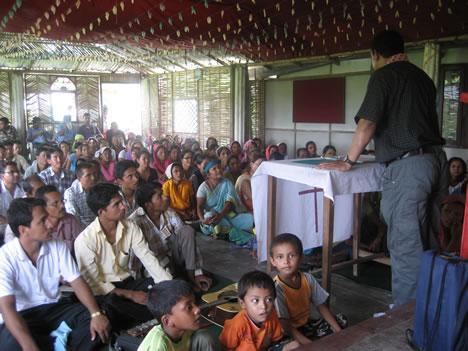 Training refugees, East Nepal
