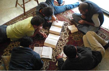 Arabs studying