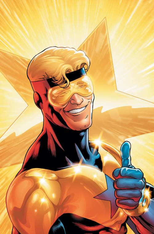 Booster Gold, who says douchebags can't be super heroes too?
