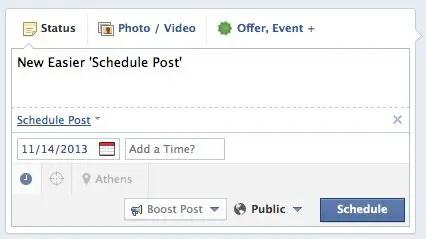 Post schedule facebook