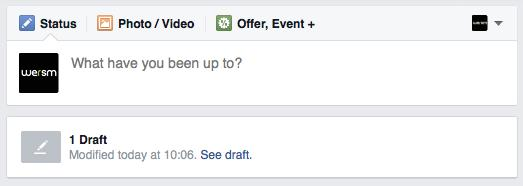 You Can Now Save Draft Posts on Facebook Pages • Facebook
