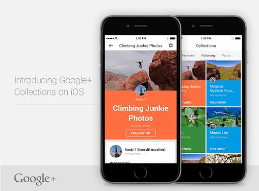wersm google plus collections on ios