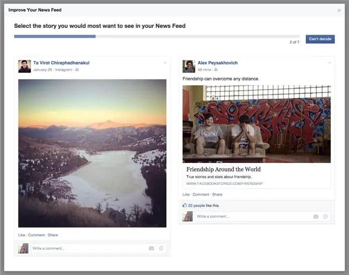 wersm facebook newsfeed survey viral posts