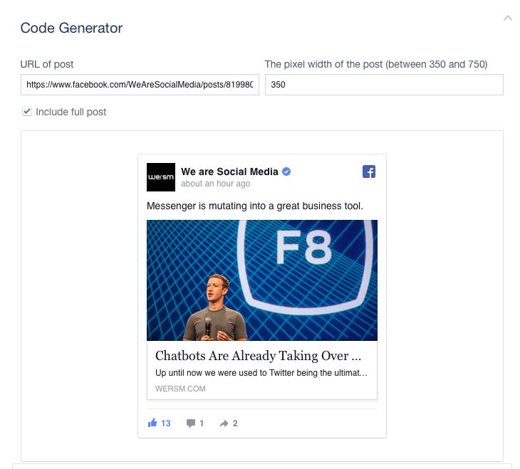 Facebook Has Improved The Way You Embed Posts On Your Site