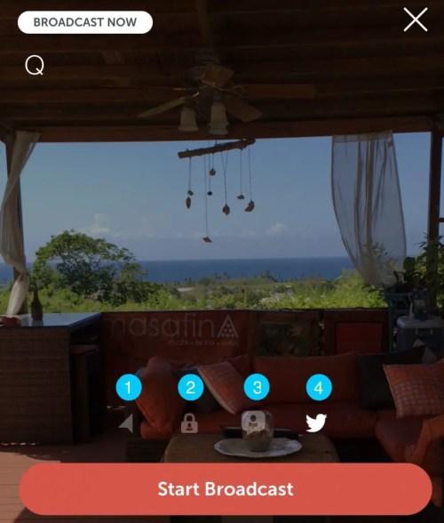 Periscope home screen