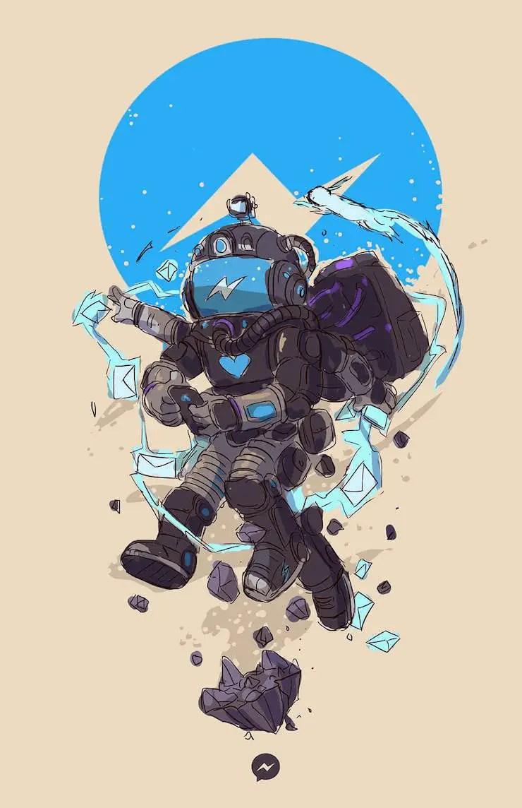 wersm-social-media-humanoid-messenger
