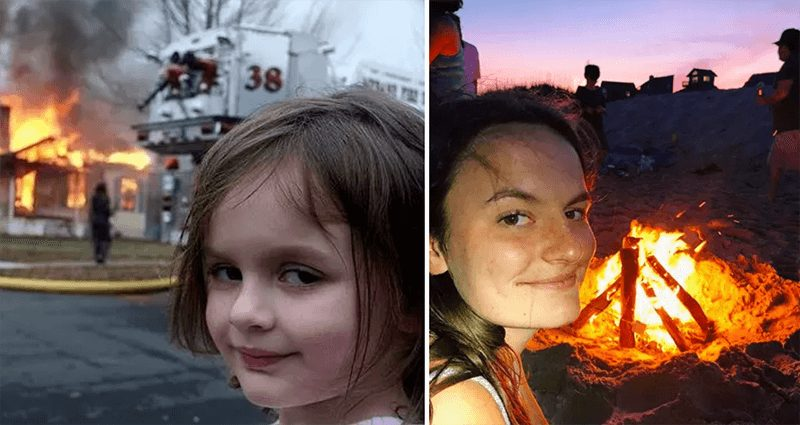 wersm-internet-memes-then-and-now-disaster-girl