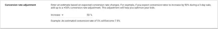 google ads seasonality adjustments