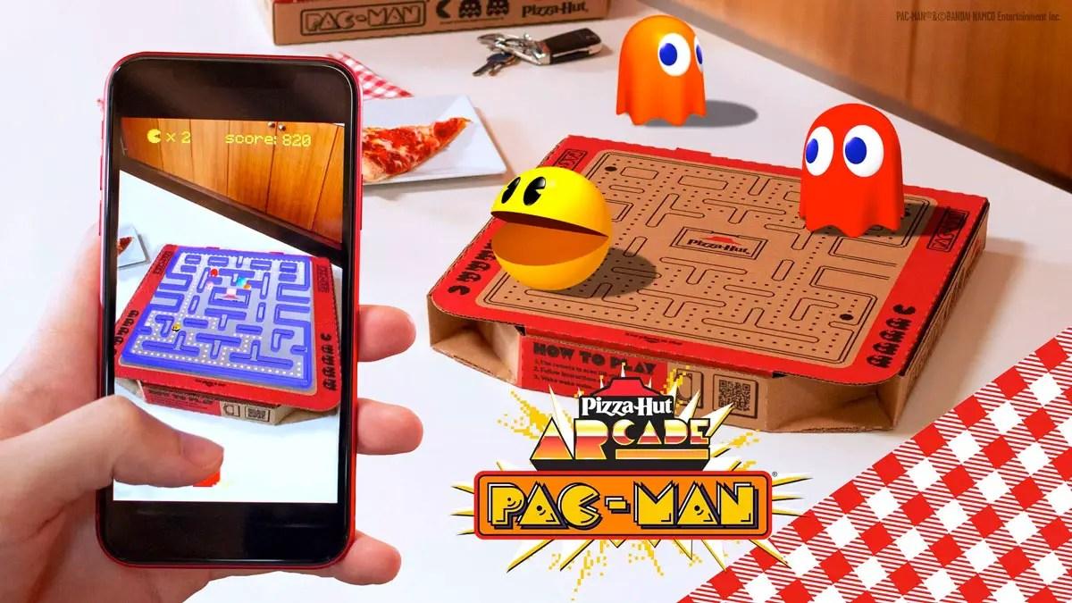 Pizza Hut pac man AR