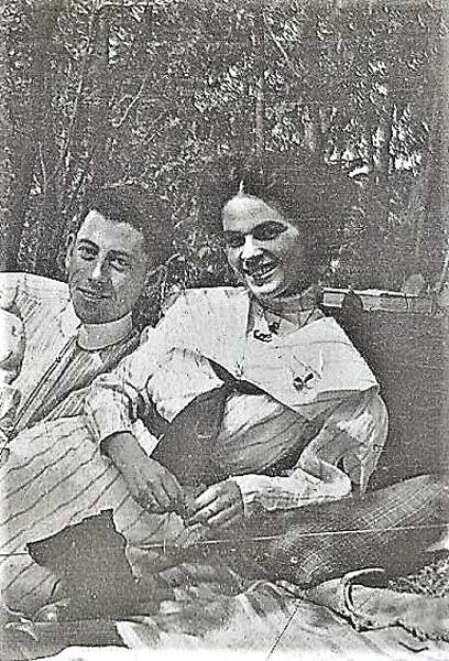 William H. & Nora Relax at a Picnic
