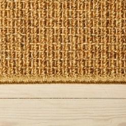 gyldent sisal berber løst tæppe med kant fra WeRug