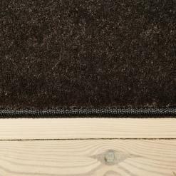 Stålfarvet løst tæppe med kantbånd fra WeRug