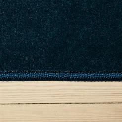 vintage blåt tæppe med kant fra WeRug