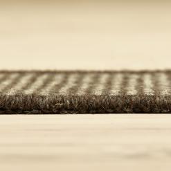 mørkegråt tæppe fra WeRug med kant
