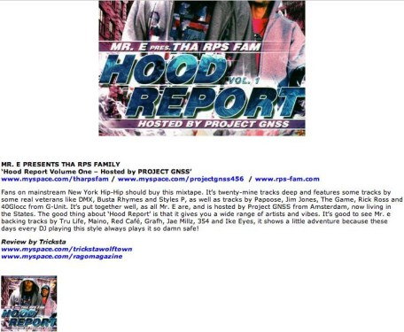 Mr. E at Ragomagazine UK with Hood Report