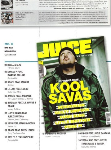 Mr. E DJ Charts For Juice Magazine