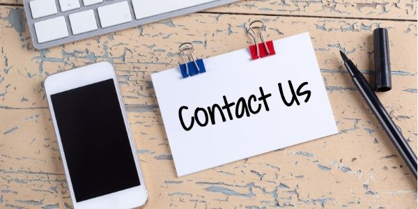 Contact Us on a note card