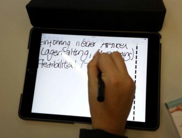 Reines digitales Arbeiten – Stiftetest in der 1B1