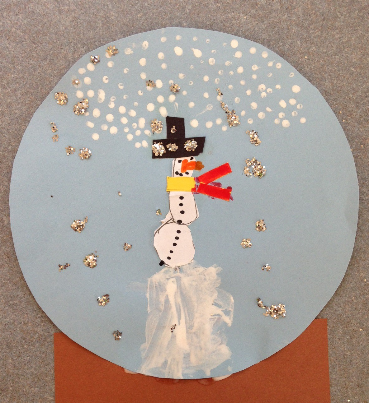 Kindergarten Snowman Snow Globes
