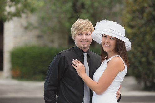 Lexington Kentucky Engagement Session - Keeneland