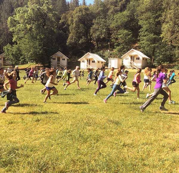 Kids running at WES