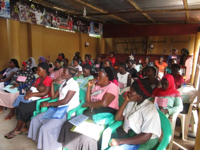 Women attend a BeadforLife training session. Courtesy photo.