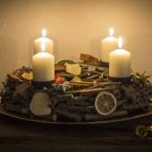 DIY Adventskranz aus Holz 🕯