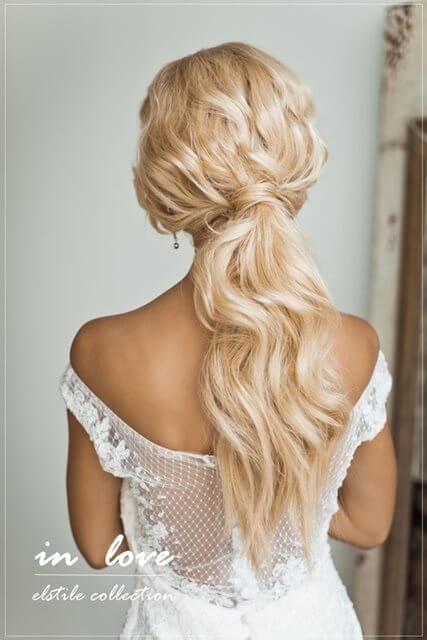 Fryzury ślubne i weselne - kucyk nie tylko na co dzień!