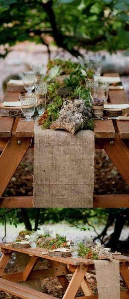Leśny motyw przewodni ślubu i wesela
