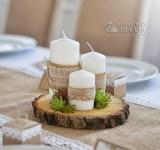 dekoracja ślubna w stylu rustykalnym - mech
