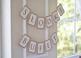 baner słodki bufet - wesele
