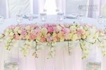 bukiet przed parą młoda - dekoracja ślubna w Hotelu Faltom