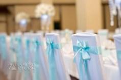 dekoracja krzeseł - nowe pokrowce - Tiffany Blue